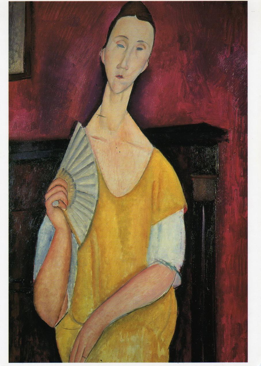 091 Modigliani 1919 Femme a l evetail 100x65 Musee d art moderne de la ville de Paris