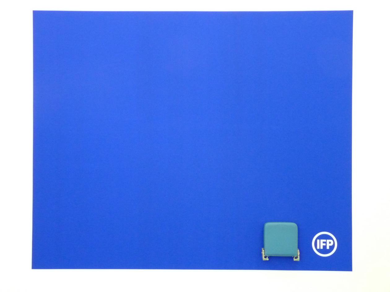 P1610159 Information Fiction Publicite granda surface -bleue variable dimensions 1987