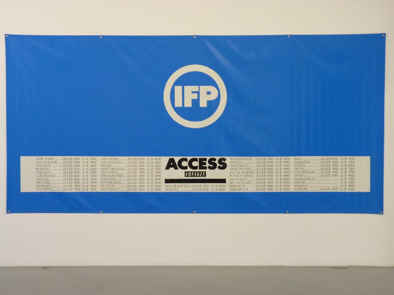 P1610157 Information Fiction Publicite access IFP 198X419cm 1988 tarpaulin PVC