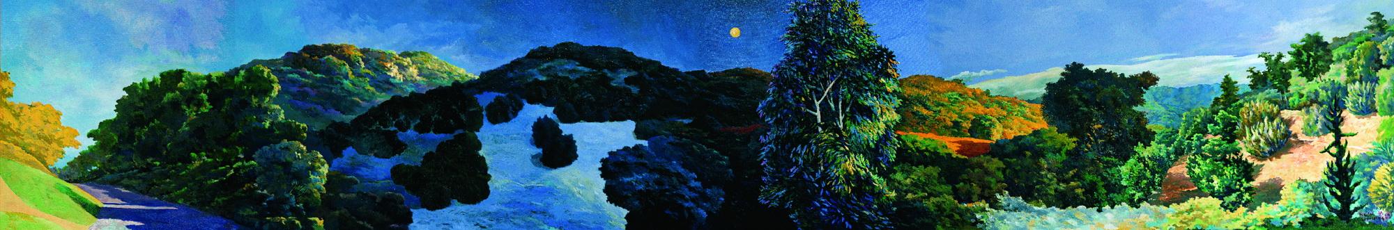 001 白天到晚上-季節 91.5x549 cm 1992-1994 油彩 畫布