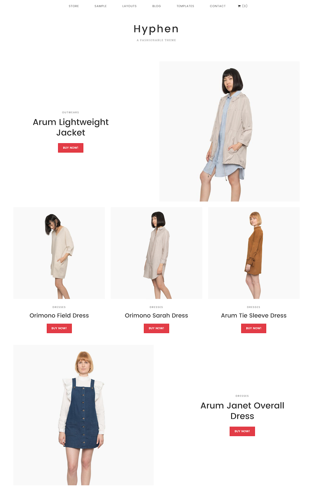 boutique en ligne épuré