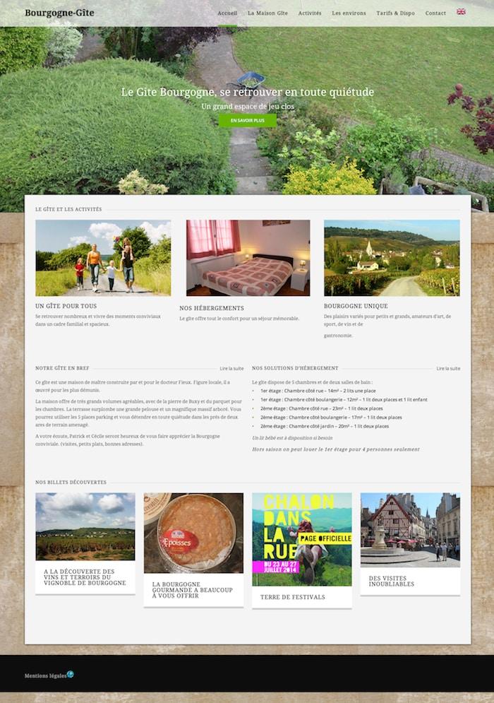creation site internet gite