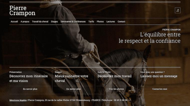 Le site internet de Pierre Crampon