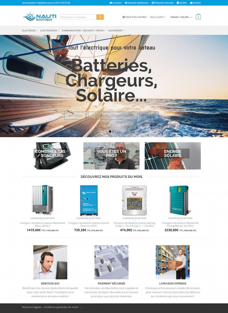 création site e-commerce nautiboutique
