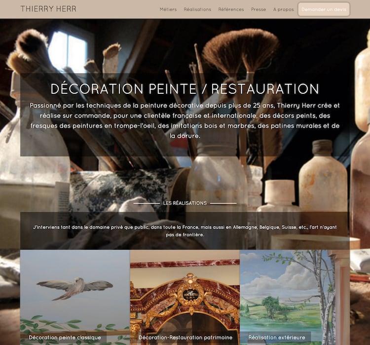 conception du site web de thierry herr à strabsourg