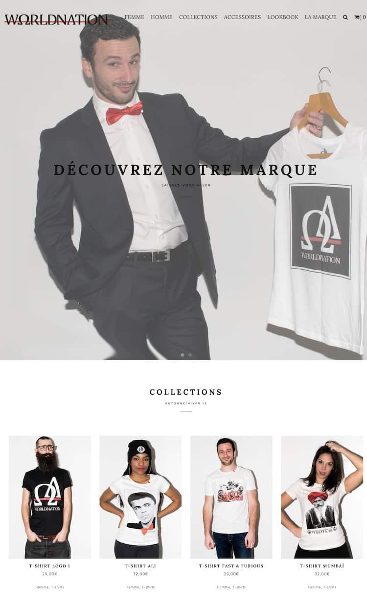 Site e-commerce vêtement