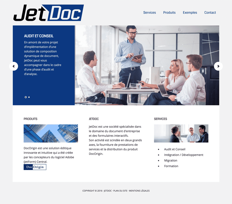 Conception site web jetdoc