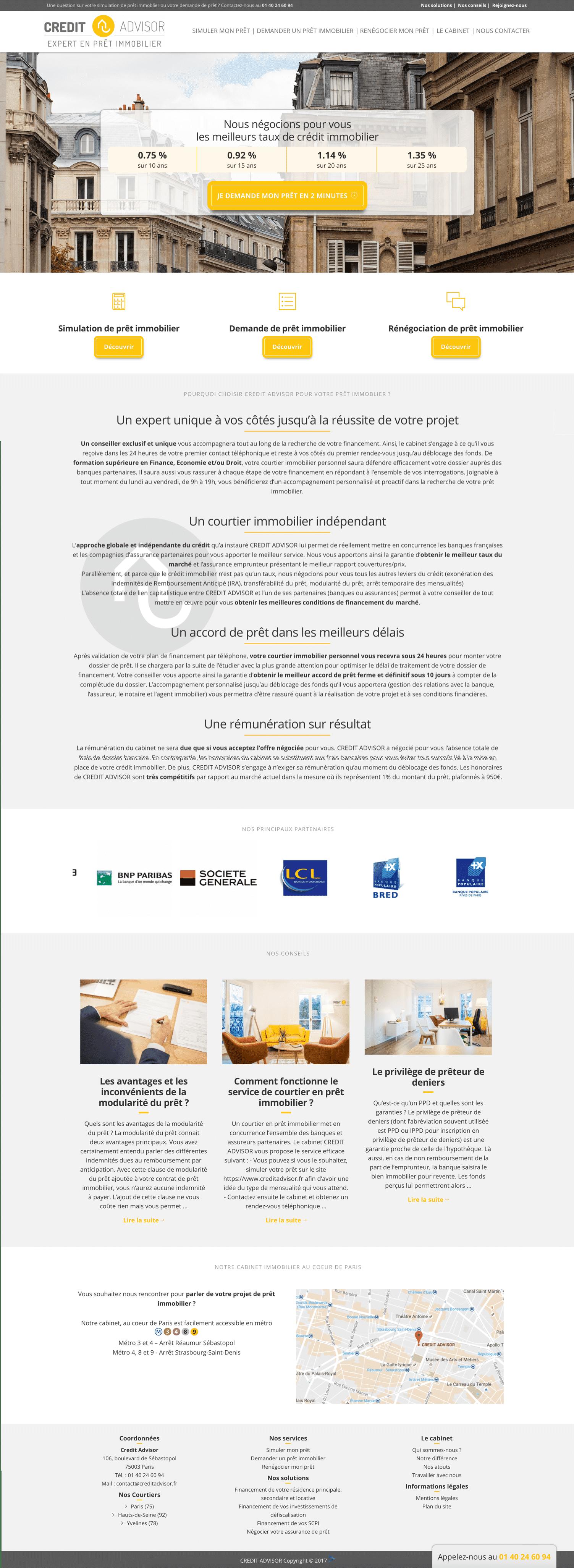 Site internet de credit advisor
