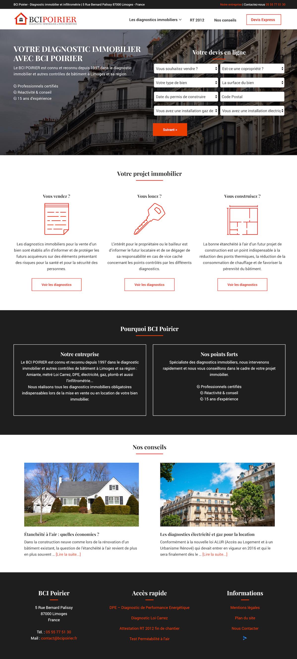 Site internet BCI Poirier