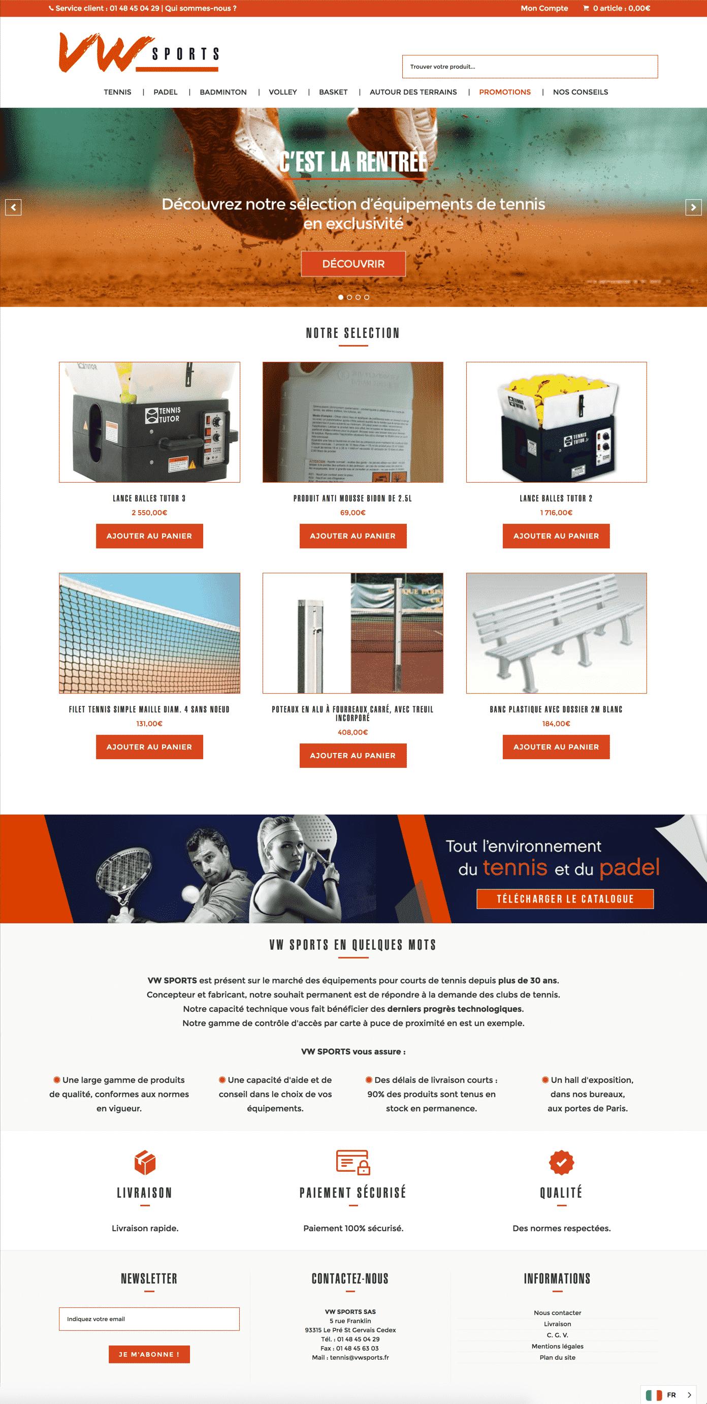 Site ecommerce de vwsports