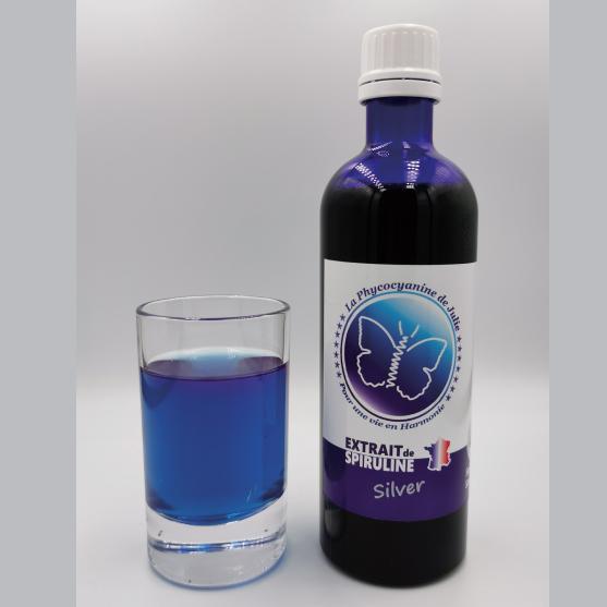 SILVER Phycocyanine de Julie Extrait de la Spiruline de Julie verre bleu