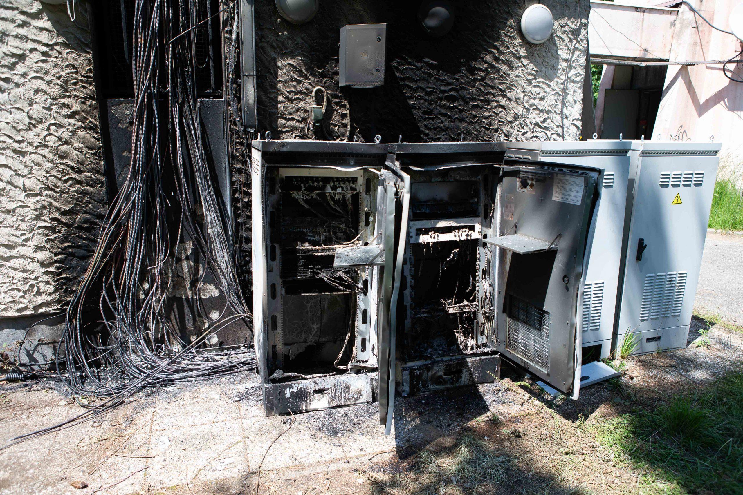 Incendie Pylône - maintenance