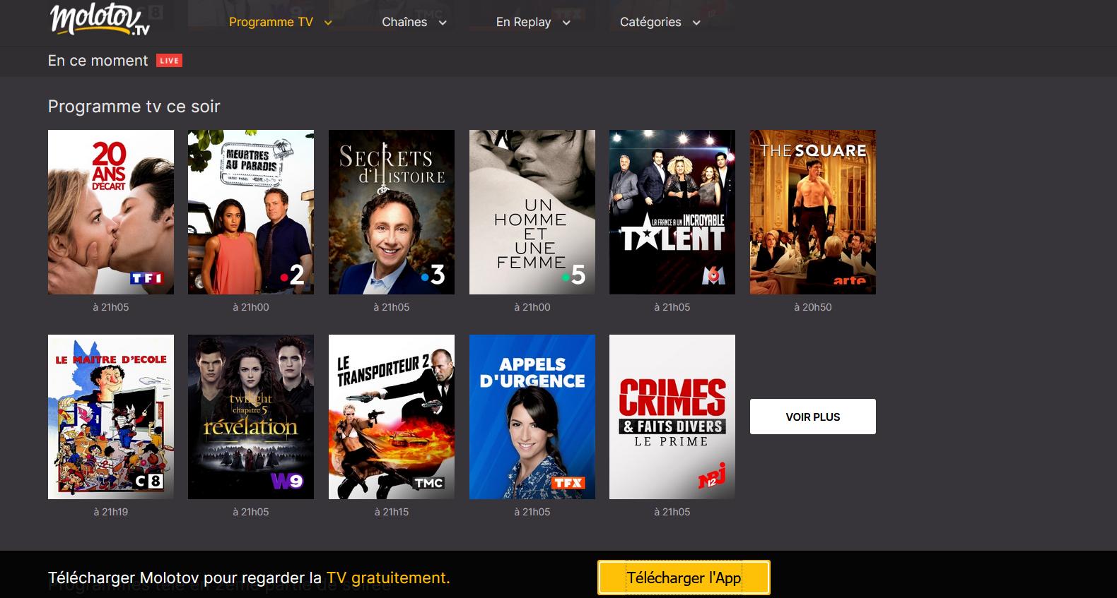 Molotov TV - Télé connectée - replay - Smart TV