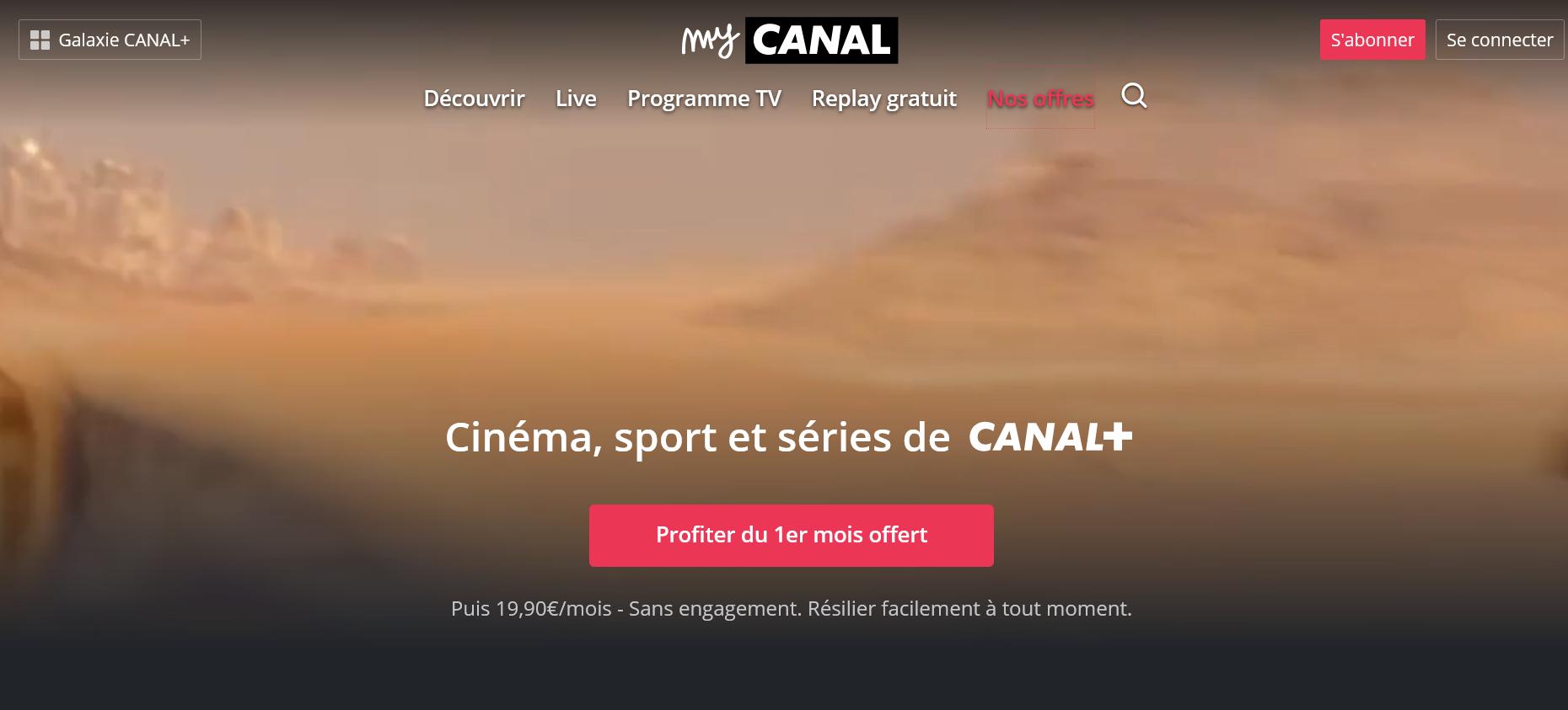 MyCanal - Smart TV - Télé connectée - Bbox