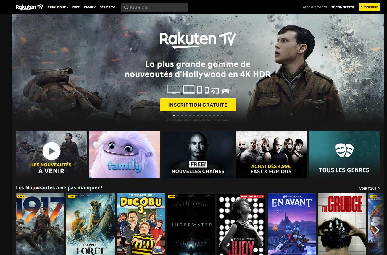 Rakuten TV - TV connectée - Bbox