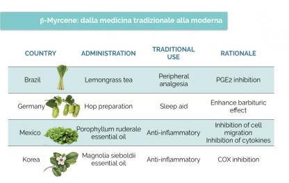 β-mircene - Medicina tradizionale - Cannabiscienza
