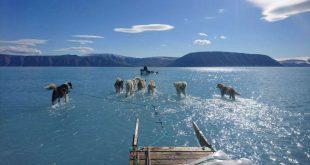imagen de hielo derretido en Groenlandia