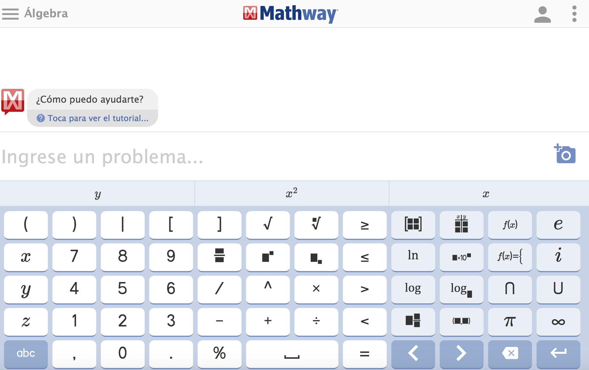 Mathway, la app para solucionar problemas de matemáticas on