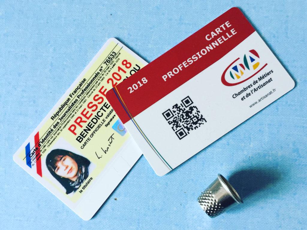 Carte de presse vs carte d'artisan