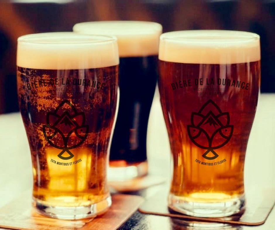 Verres de bière de la Durance