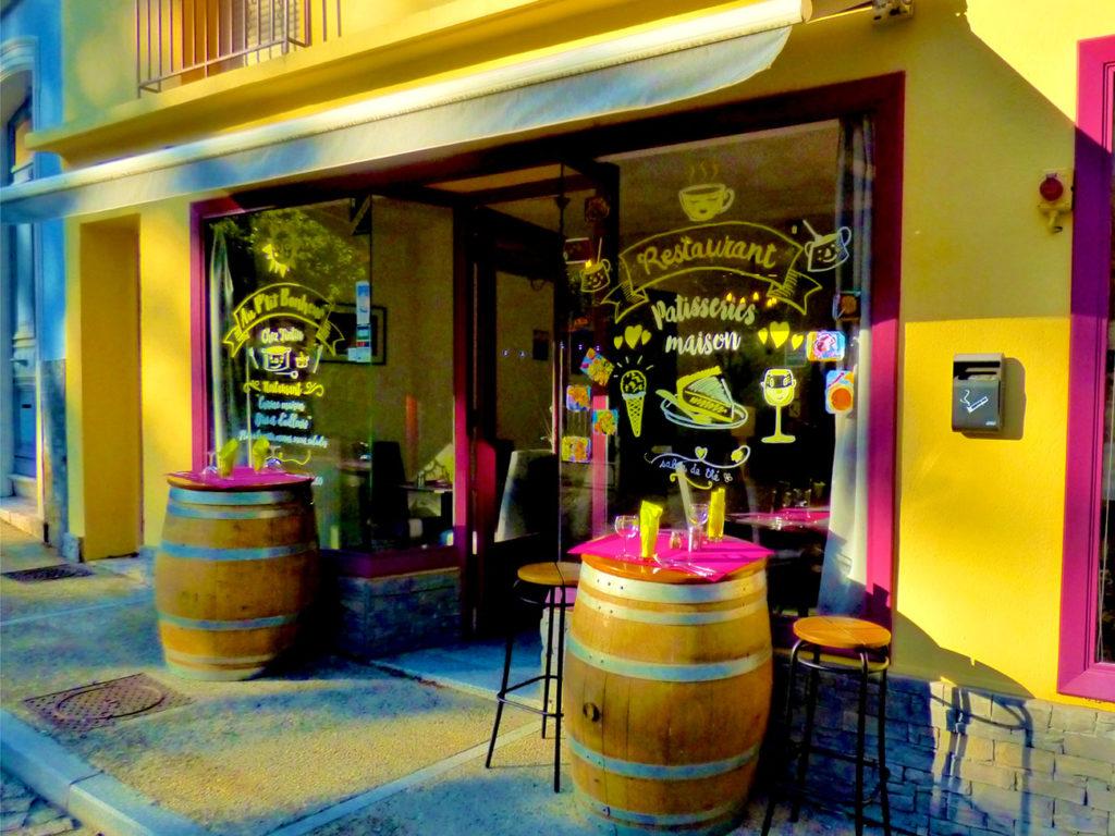 Devanture du restaurant Au ptit bonheur à Molitg-les-Bains