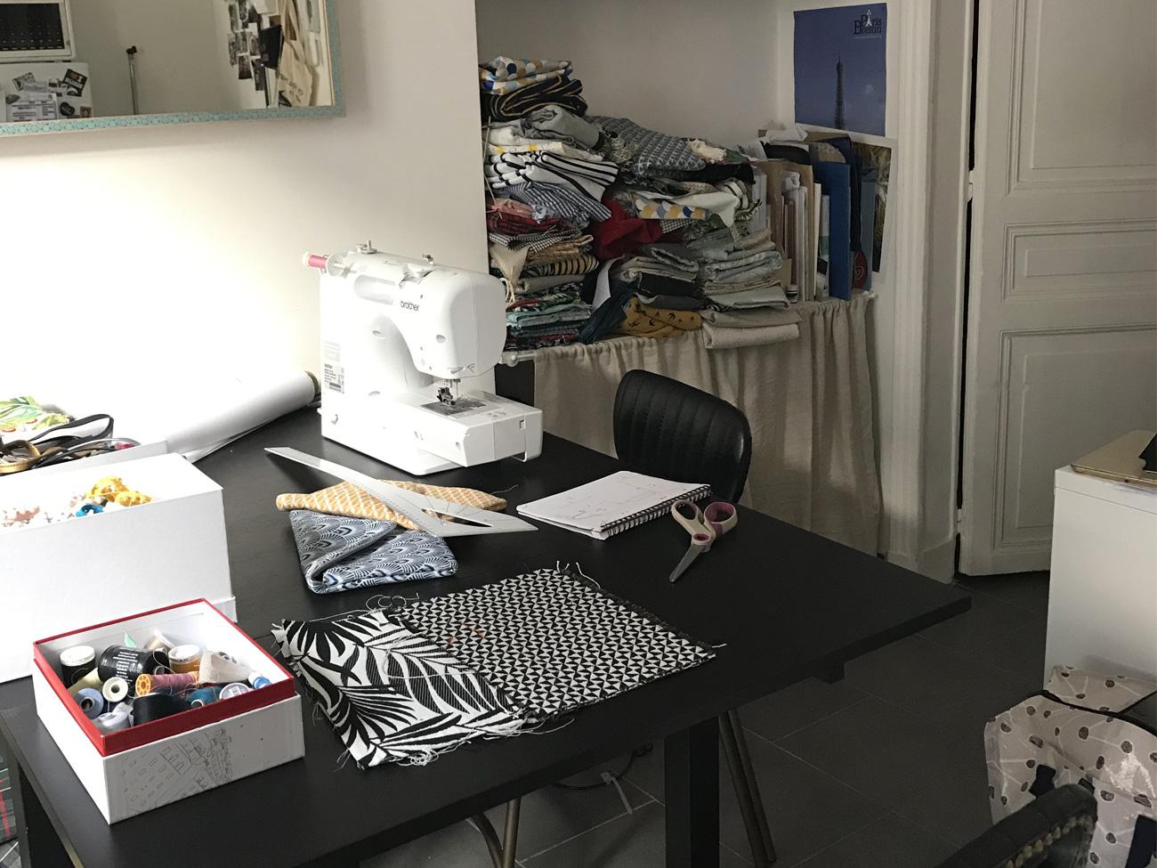 L'atelier de couture de Domitille