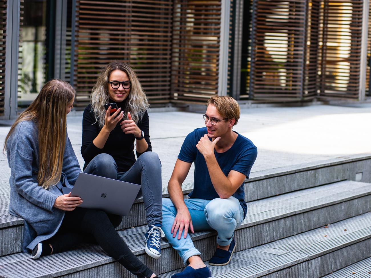 Groupe d'étudiants entrepreneurs