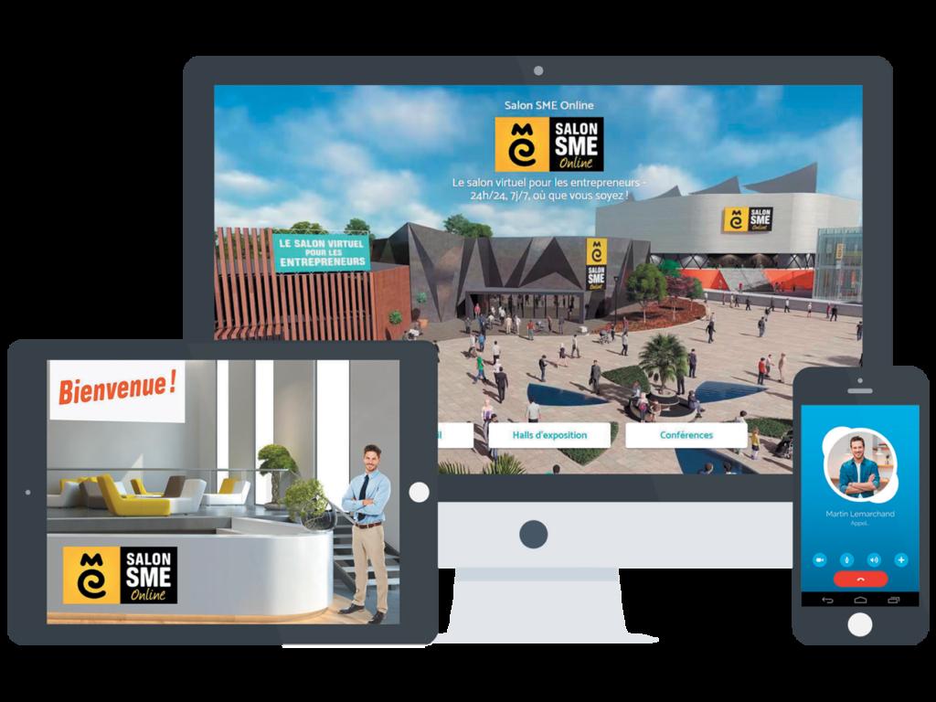 Le salon SME online : visuels