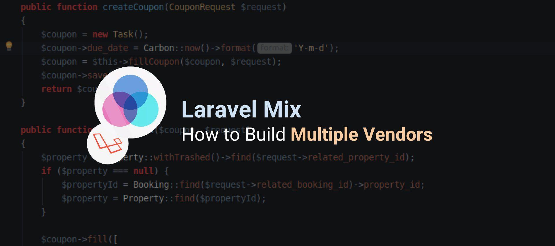 How to Split Dependencies into Multiple Vendors using Laravel Mix