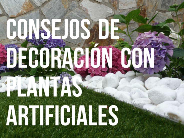 decoracio jardin plantas artificiales