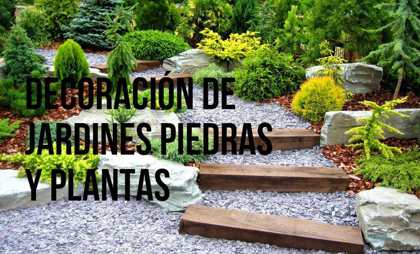 jardin piedras y flores