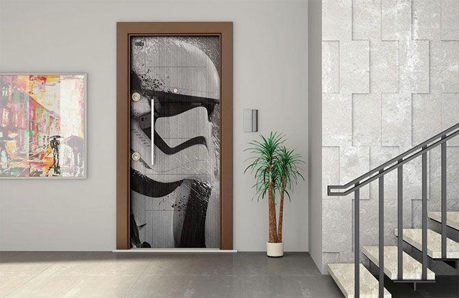 papel pintado para puertas