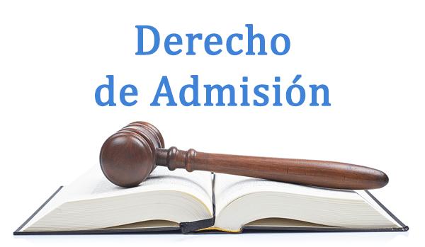derecho de admisión