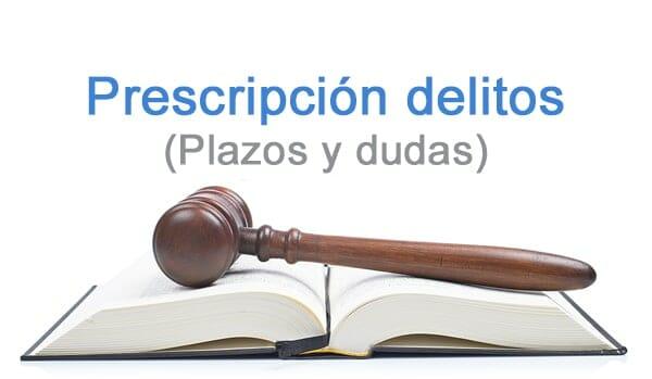 prescripción delitos