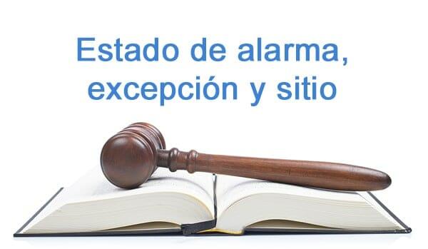 Estado de alarma, excepción y sitio
