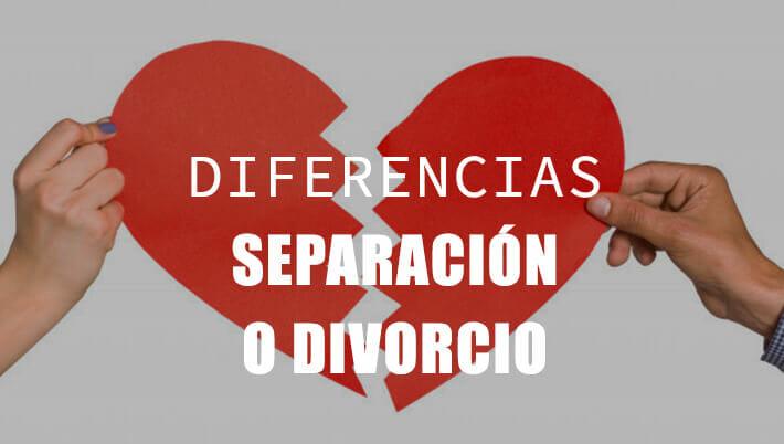 diferencias separación y divorcio