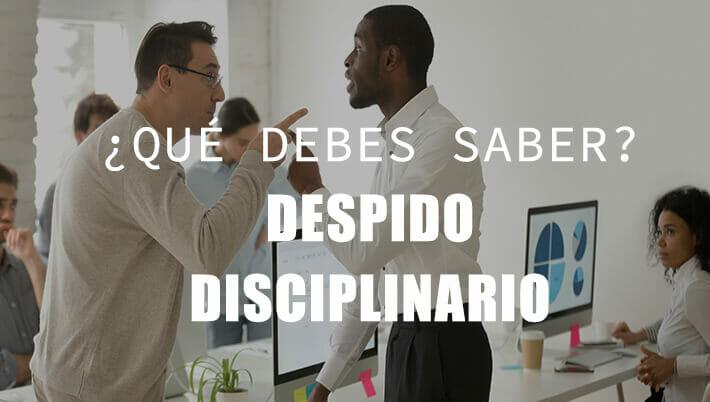 despido disciplinario que es y derecho a paro