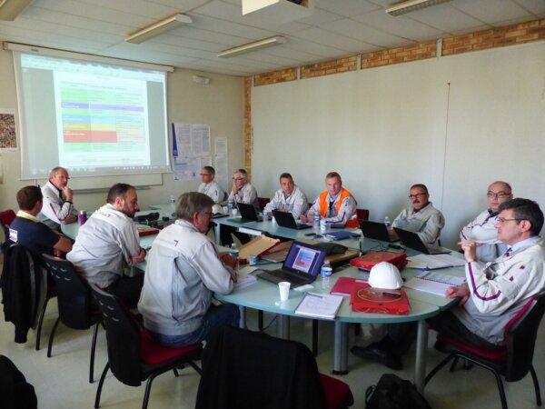 Exercice inondation à l'usine PSA de Villers-Semeuse