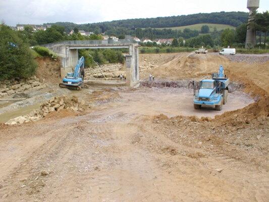 PIG Meuse - Excavation du clapet