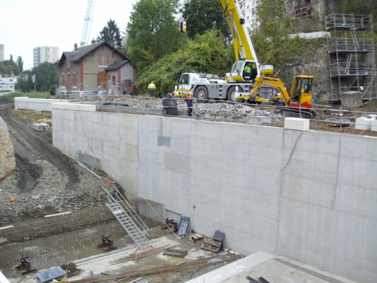 PIG Meuse - Bétonnage du mur