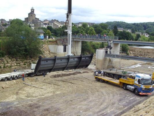 PIG Meuse - Montage du clapet 15m