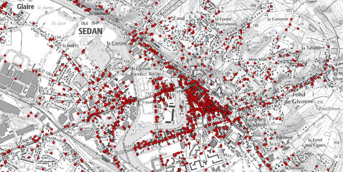 Extrait de la carte de localisation des entreprises