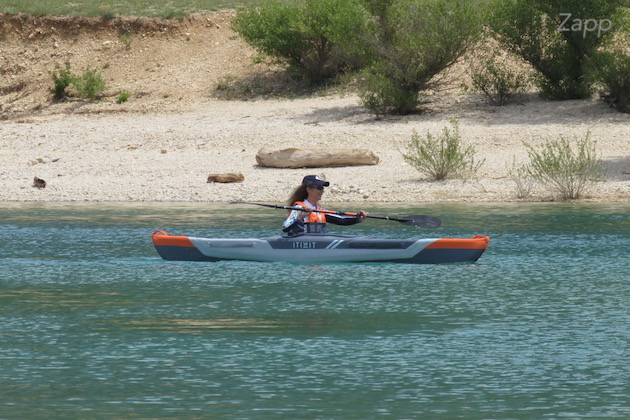 kayak gonflable itiwit 1 place lac
