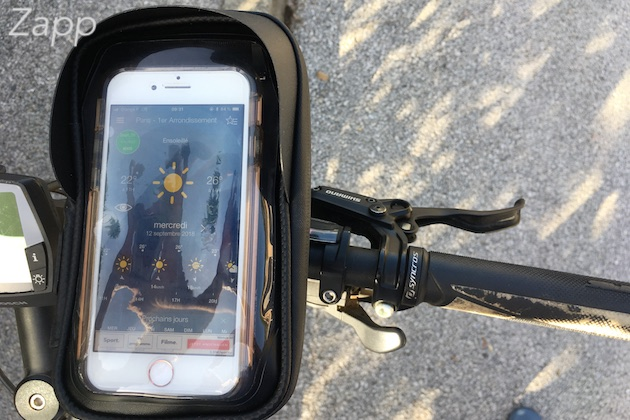 support smartphone étanche vélo scooter moto