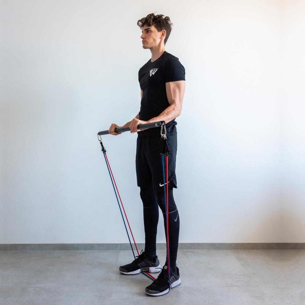 Barre de musculation pour élastiques