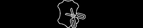 Cuire pleine fleur ceinture