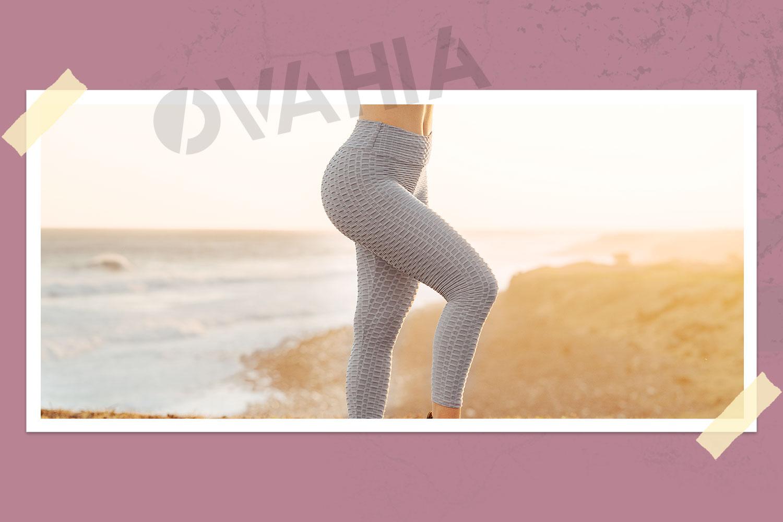 Anti-Cellulite Push-up Leggings White – OVAHIA®