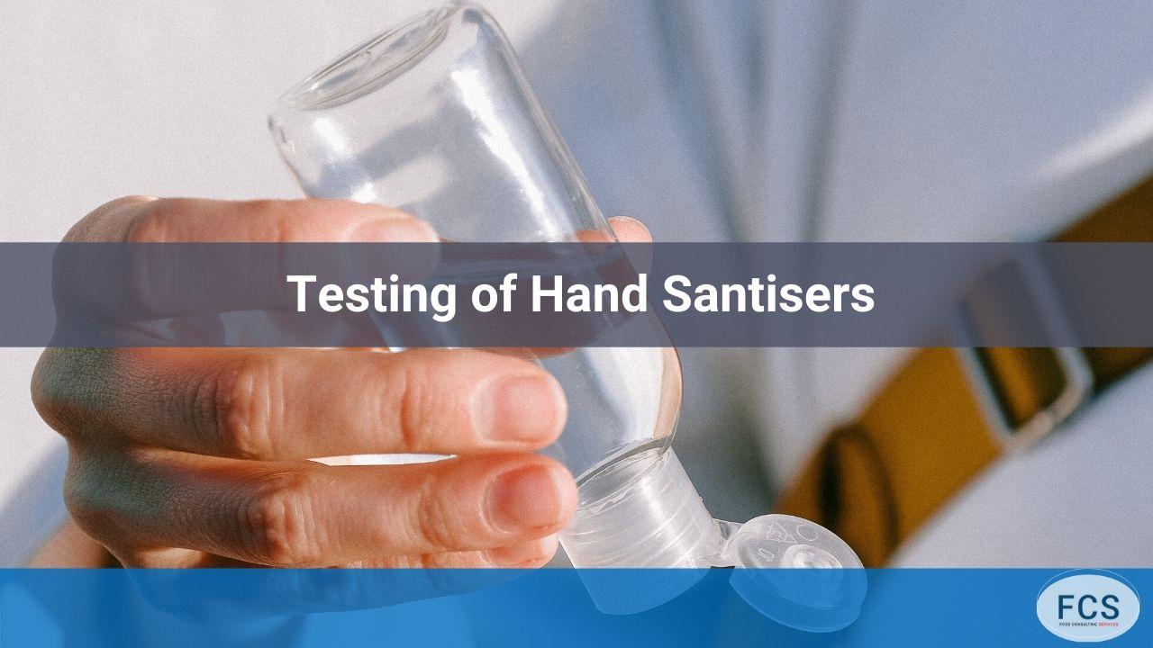 hand sanitiser tests