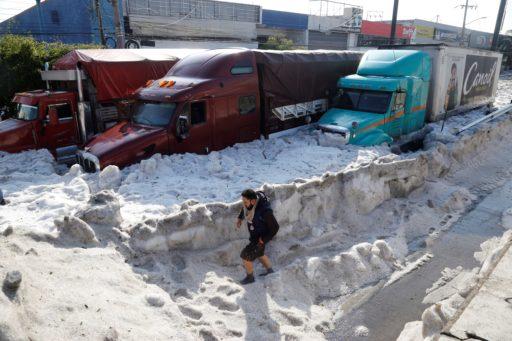 La ville mexicaine de Guadalajara à l'arrêt à cause de…2 mètres de grêle
