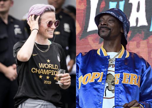 Snoop Dogg rejoint Megan Rapinoe dans sa lutte pour un salaire égal